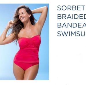 Sorbet Braided Bandeau Swimsuit